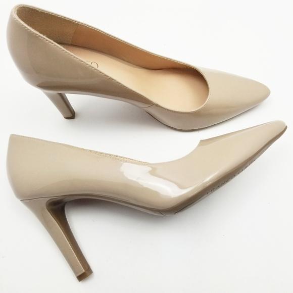 e493eb10e7d Franco Sarto Audra Nude Pointy Toe Heels